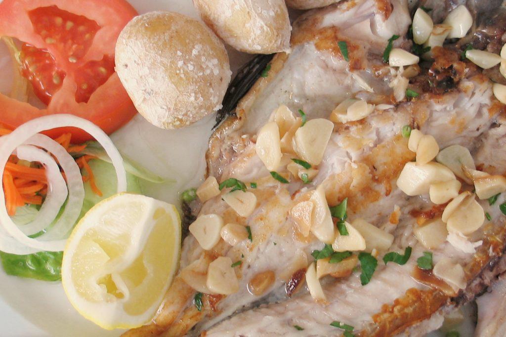Fresh Fish with Papas Arugadas